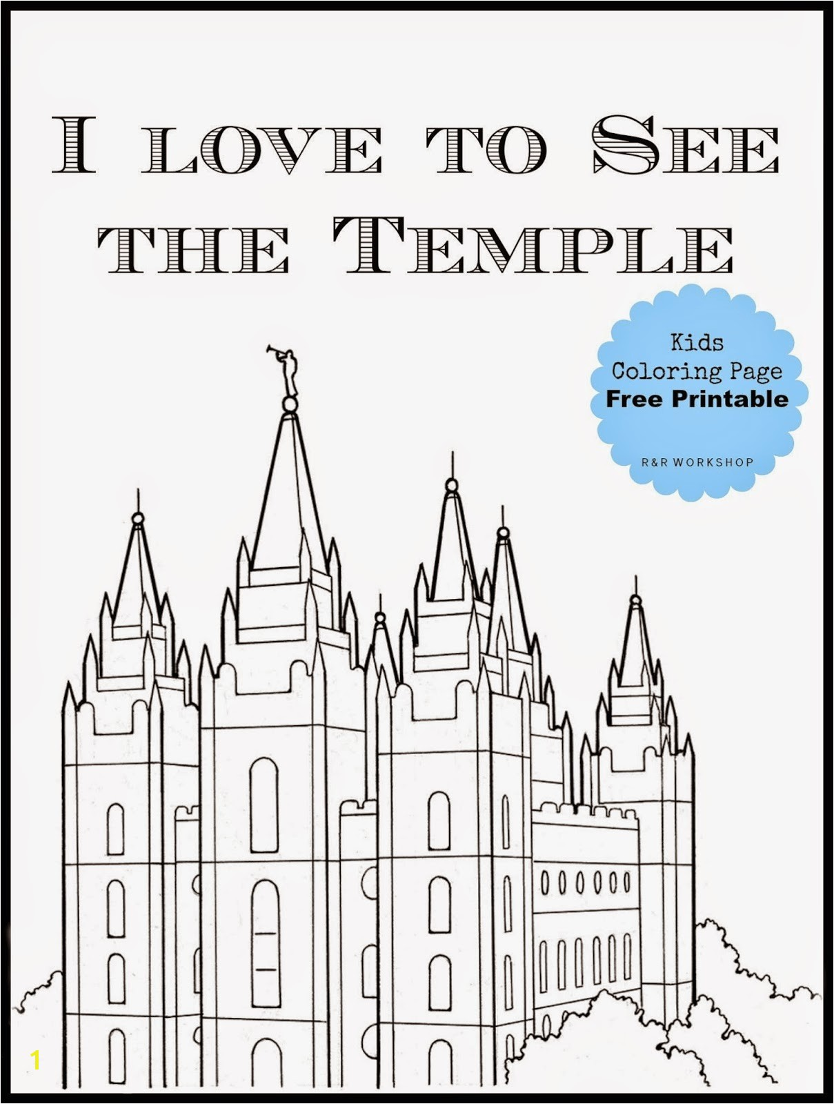 Inspirational Lds Temple Coloring Pages petitive Kirtland Page R Workshop Salt Lake Free Printable