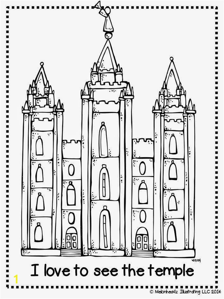 Inspirational Lds Temple Coloring Pages
