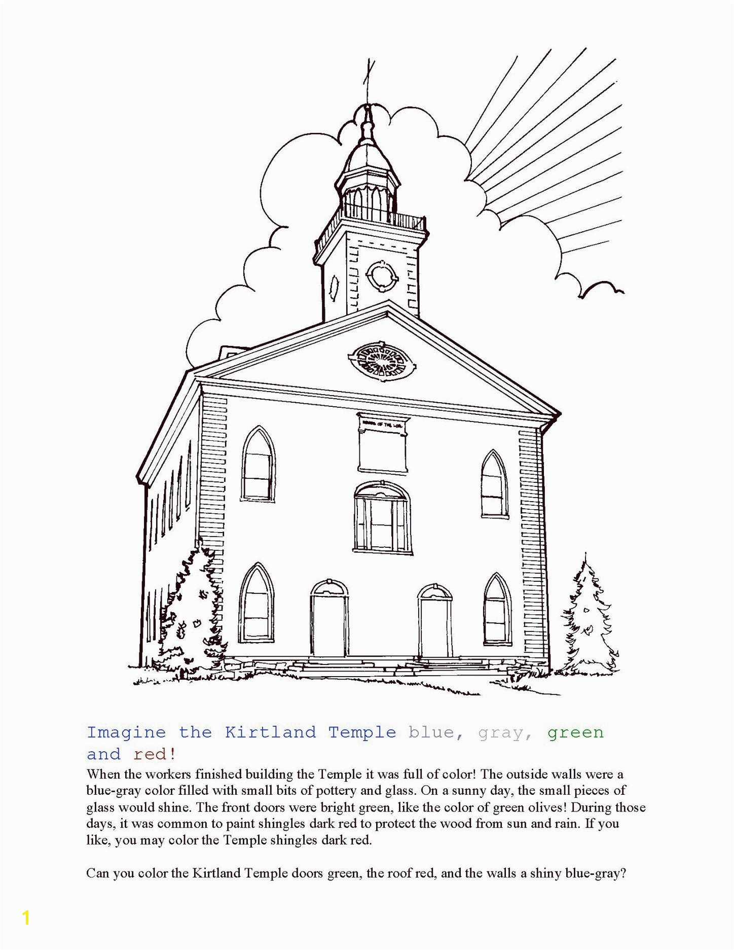 Temple Coloring Page Valid Kirtland Temple Coloring Page 246 6600—5100