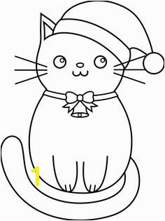 Christmas Kitty Lineart · Cat coloring pageAnimal
