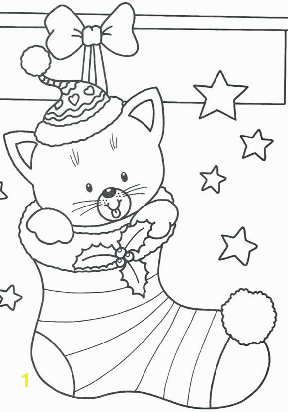 Cat Coloring Page Pages For Children Free Hello Kitty Christmas Full size