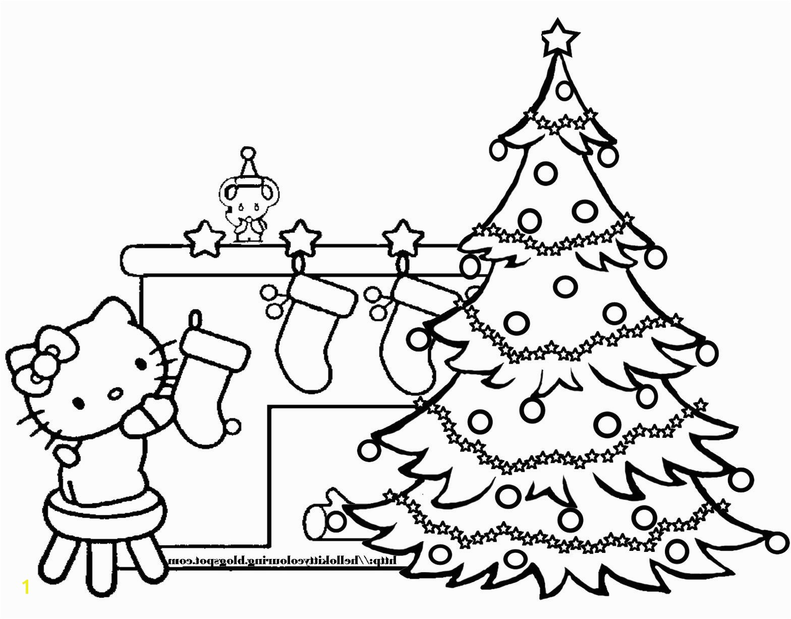 Kitty Cat Christmas Coloring Pages Kitty Cat Christmas Coloring Pages