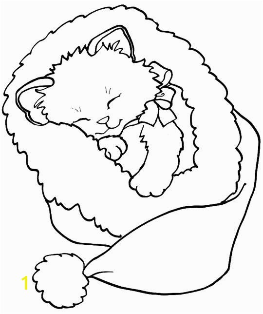 Kitty Cat Coloring Pages Unique Color the Christmas Kitty Christmas Pinterest