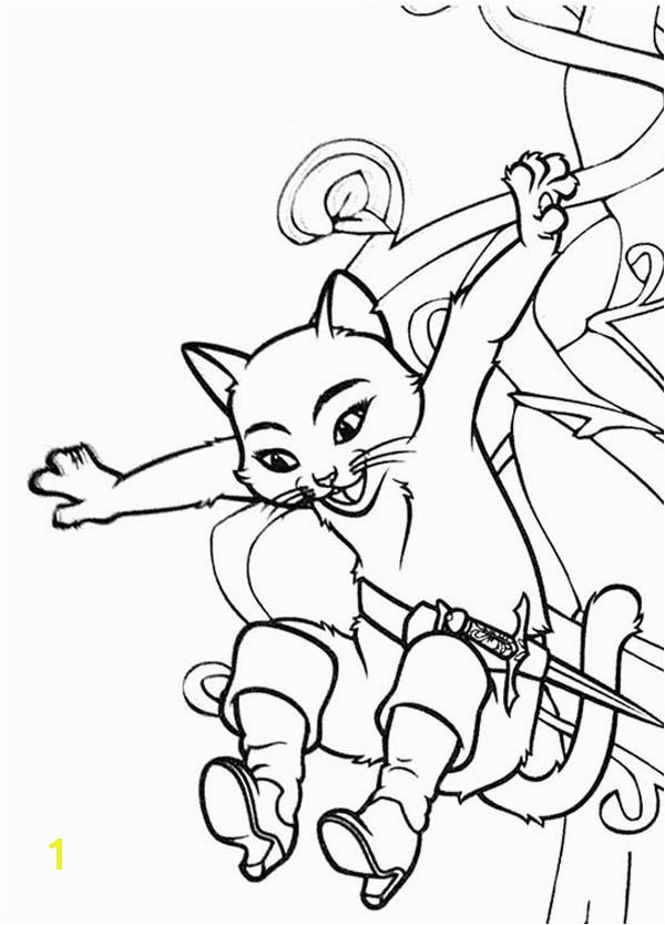 600x834 Puss in Boots Girlfriend Jump from Tree Coloring Pages Batch
