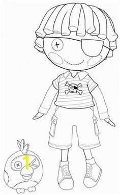 Lalaloopsy Dolls Coloring Pages Kids totally love Lalaloopsy coloring pages to print The diagrams have simple shapes and patterns making it easy for