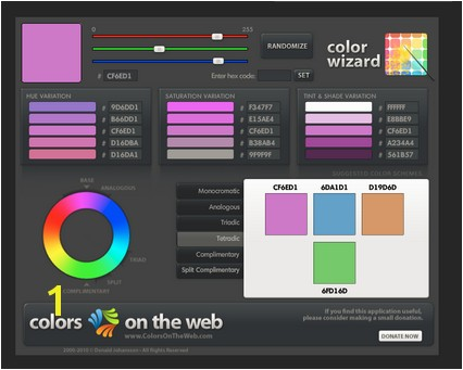 Free Color Scheme Tools Colors on the Web