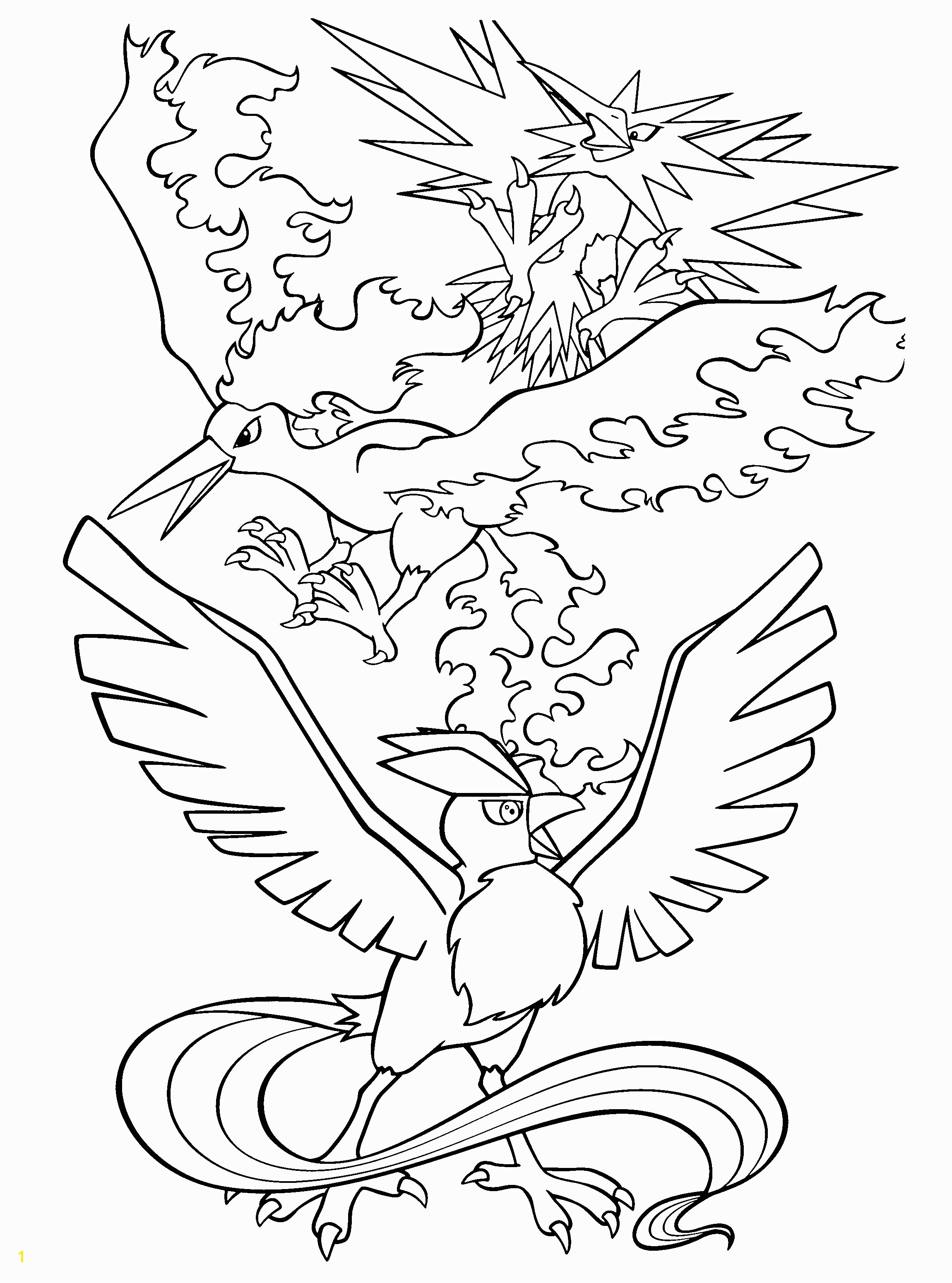 Legendary Pokemon Coloring Pages The Legendary Pokemon Colouring In