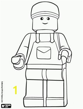 Lego Character Coloring Pages Lego Toys Minifigure Page
