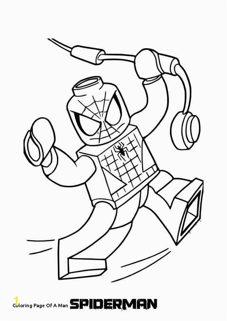 Lego Man Coloring Page Coloring Page A Man Coloring Book for Men Awesome Spider Man