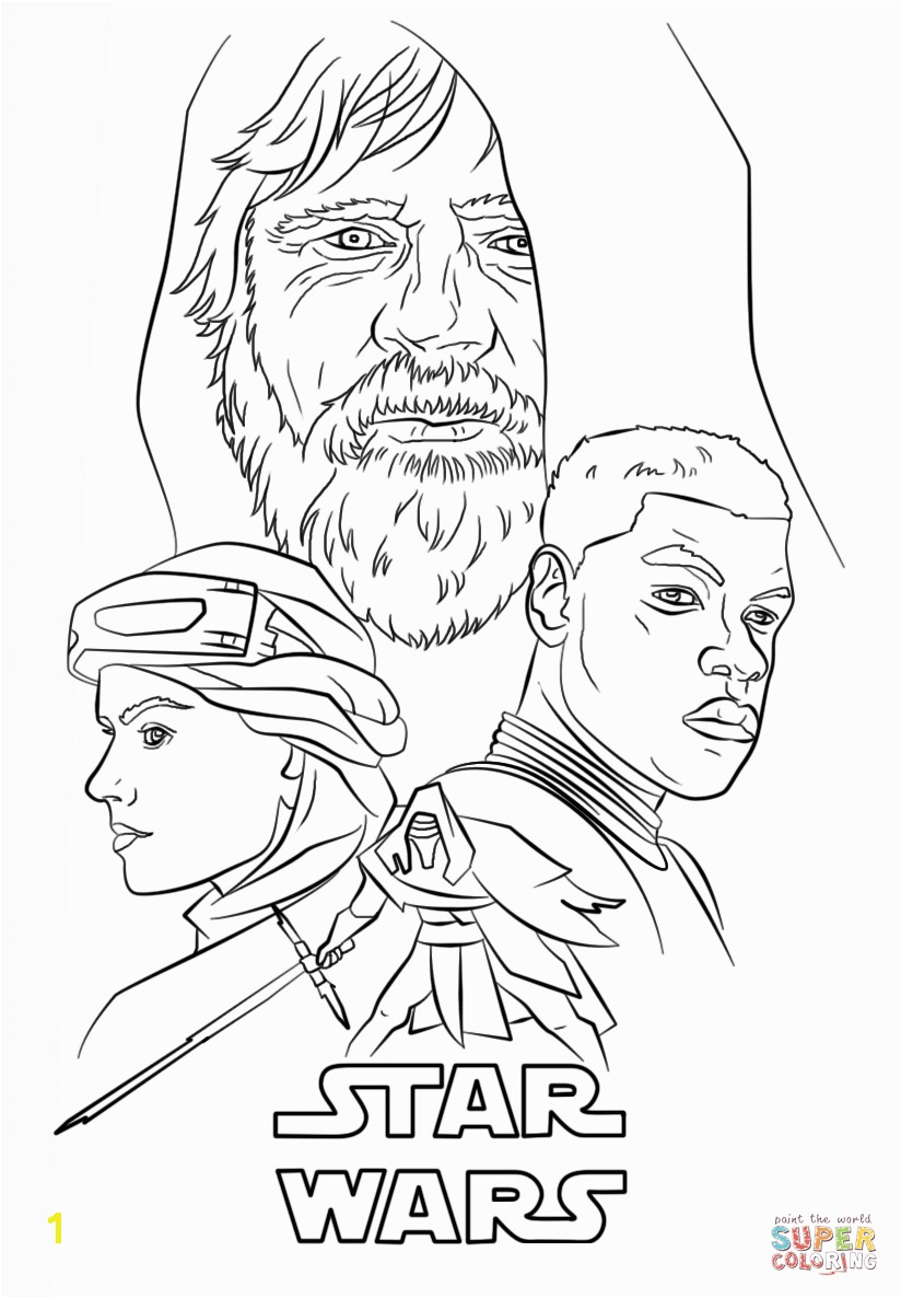 Lego Star Wars the force Awakens Coloring Pages the force Awakens Poster Coloring Page Free Printable Pages 2