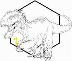 indominus rex dino coloring printable sheet