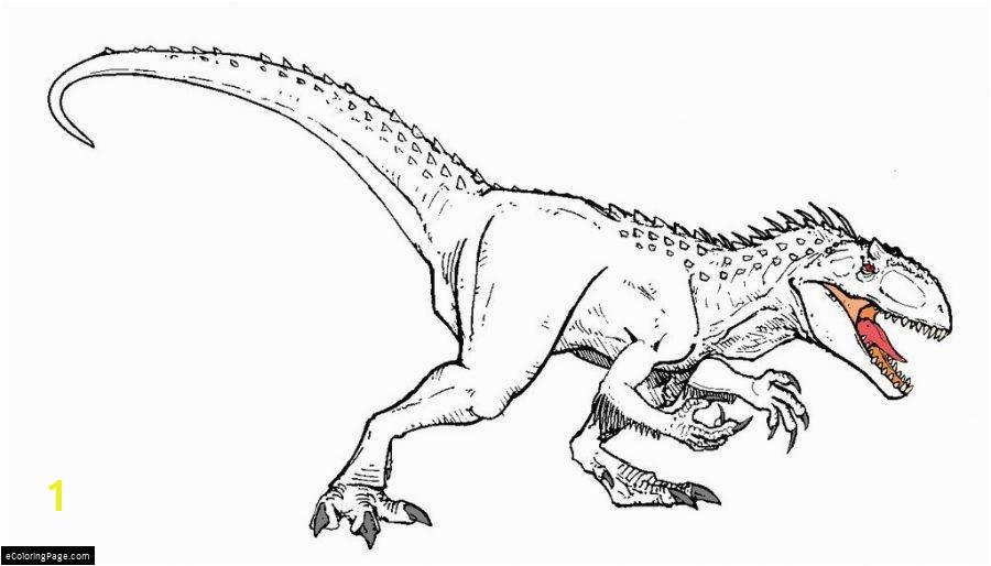 INDOMINUS REX coloring page dominex rex colorear