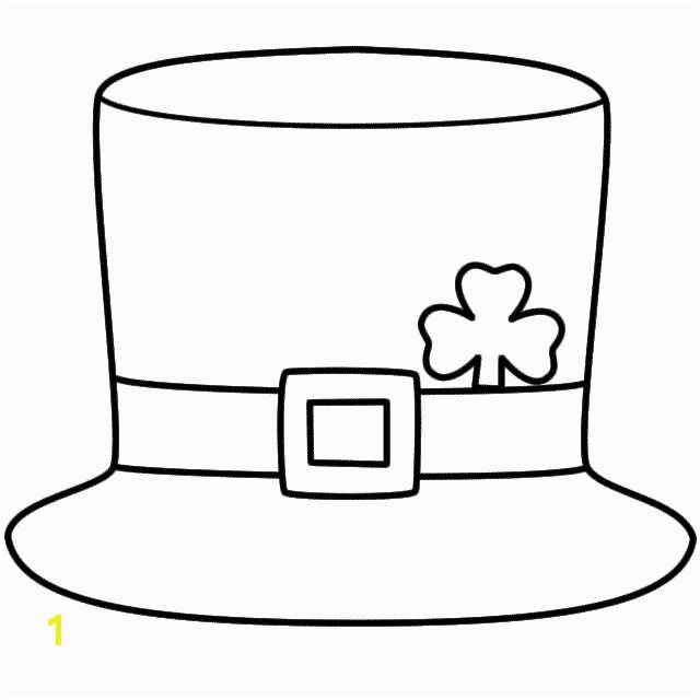Leprechaun Hat Coloring Page St Patrick s Day