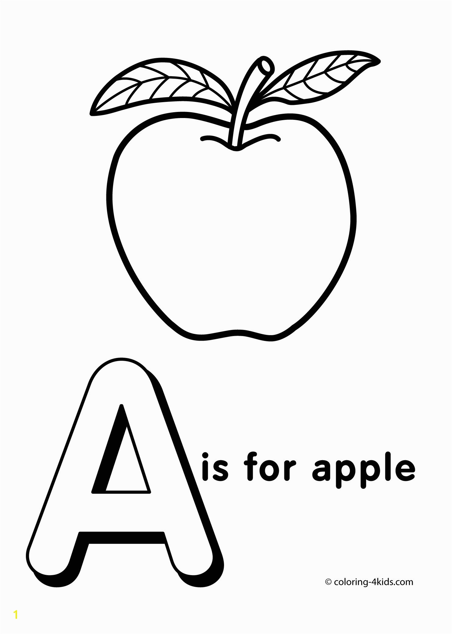 Letter A for Apple Coloring Pages Inspirational Coloring Pages Letters the Alphabet Katesgrove