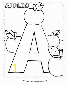 A is for Apples Free Coloring Pages for Kids Printable Colouring Sheets Mais