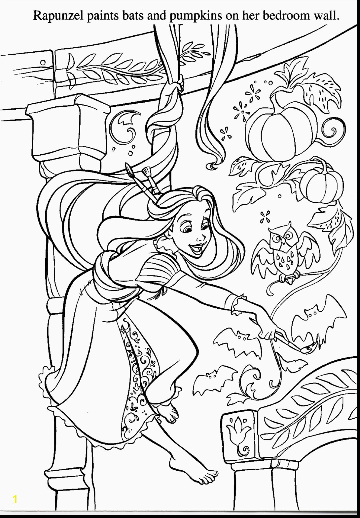 Rapunzel Coloring Pages Pdf Nice Halloween Coloring Pages Pdf Letramac