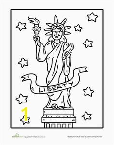 July 4th Independence Day Preschool Holiday Worksheets Statue of Liberty Coloring Page Worksheet