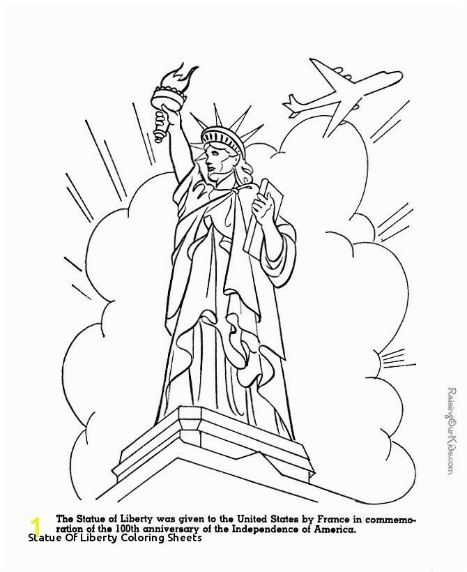 29 Statue Liberty Coloring Sheets