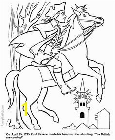 Paul Revere history coloring page for kid 020