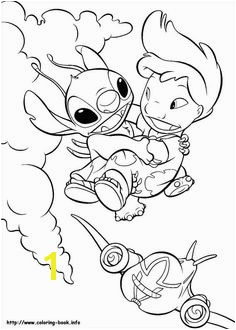 Lilo flying with Stitch coloring page There are many free Lilo flying with Stitch coloring page in Lilo and Stitch coloring pages