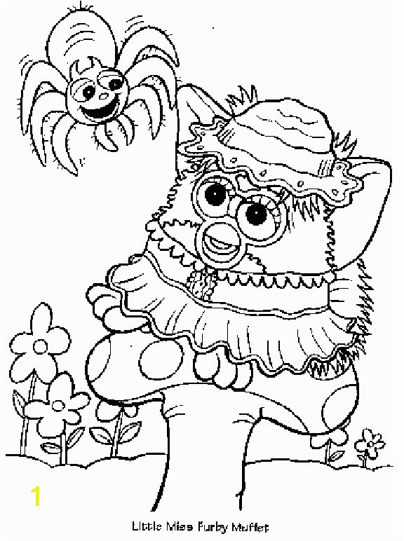 Little Miss Muffet Coloring Page Awesome Furby Coloring Pages Furby Coloring Pages Pics
