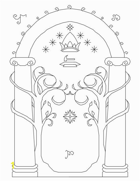 Lord Of the Rings Printable Coloring Pages Lord Of the Rings Arch Cross Stitch Pattern Pdf by Funxstitch