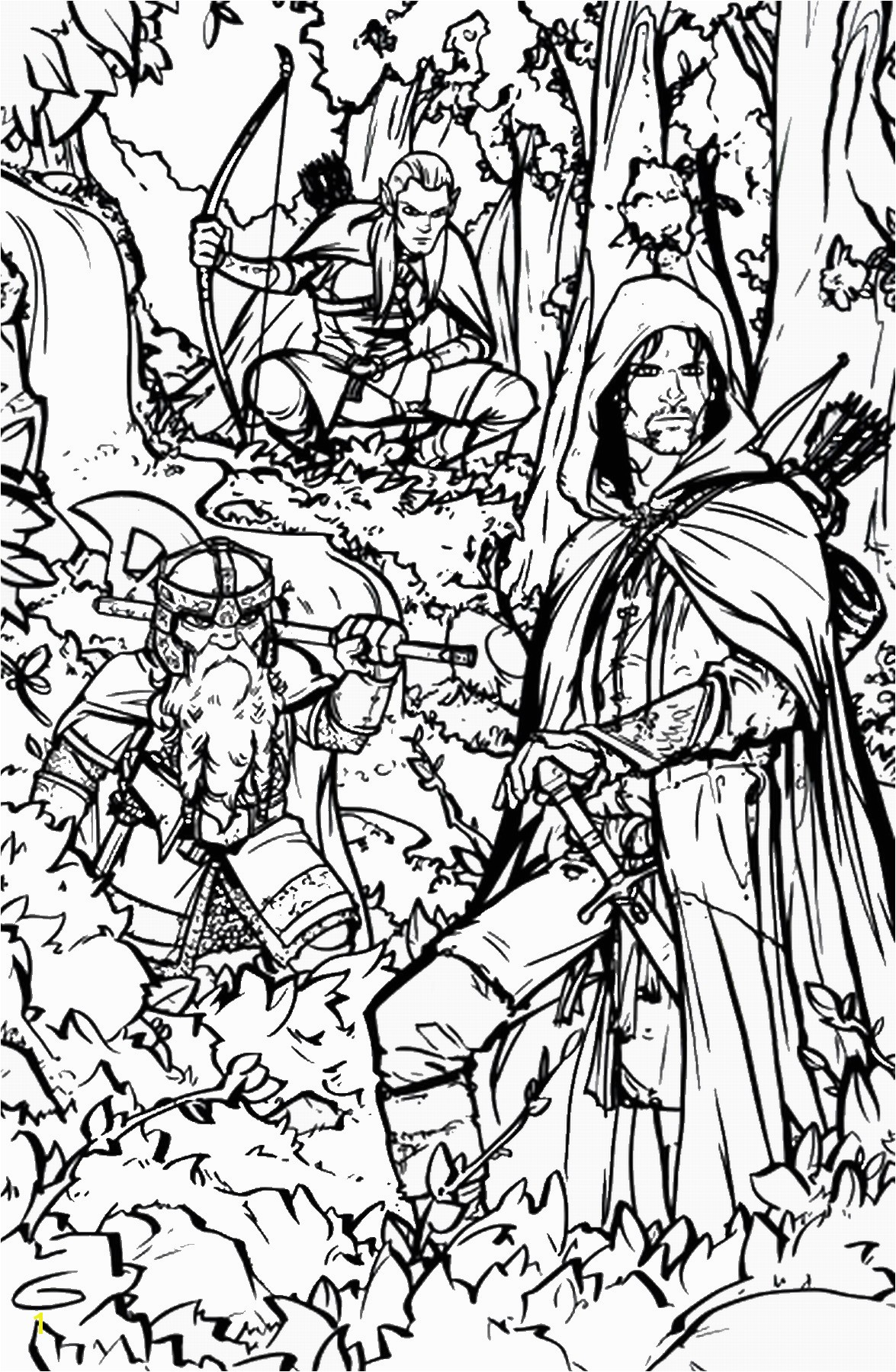 Lord Of the Rings Printable Coloring Pages Movies Tv