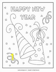 SquishyCuteDesigns Happy New Year coloring page