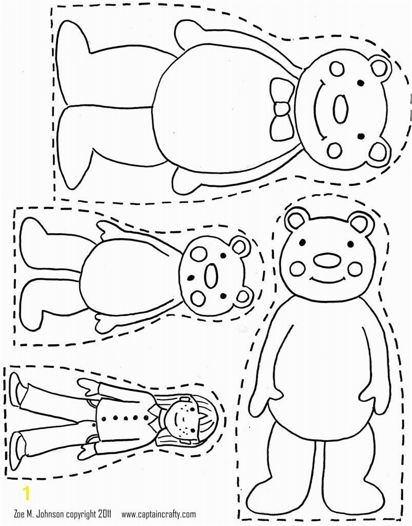 3 Bears Printable want use to make magnet board pieces for retelling Goldilocks & the Three Bears and or hotglue to large popcicle stick like puppets for