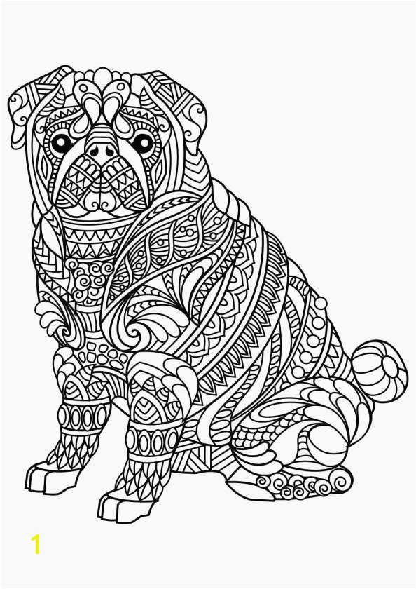 Animal Mandala Coloring Pages Lovely Awesome Easy Animal Coloring Pages Inspirational New Od Dog Coloring