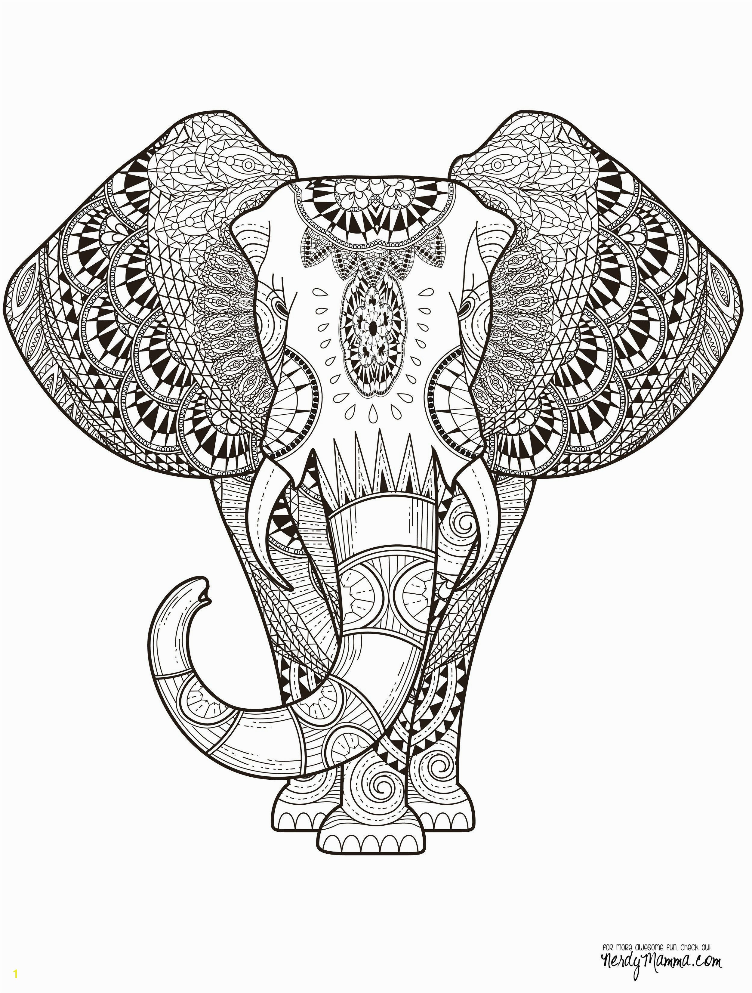 Animal Mandala Coloring Pages Printable 10