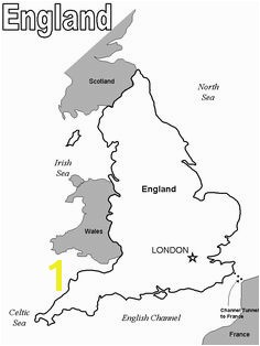 Map Of England Coloring Page Great Britain England Wales and Scotland It is One island the