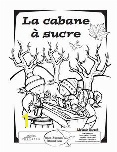 Image result for cabane a sucre coloriage