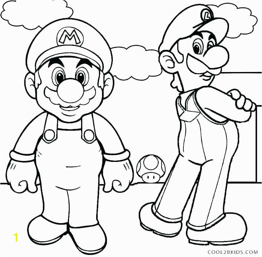 Beautiful Mario And Luigi Coloring Pages More Image Ideas