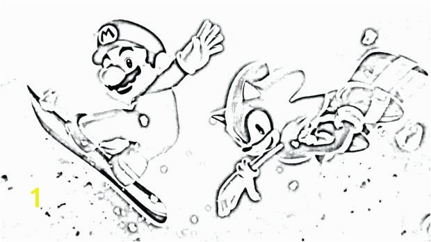 mario and sonic coloring pages sonic the winter games coloring pages mario and sonic printable coloring