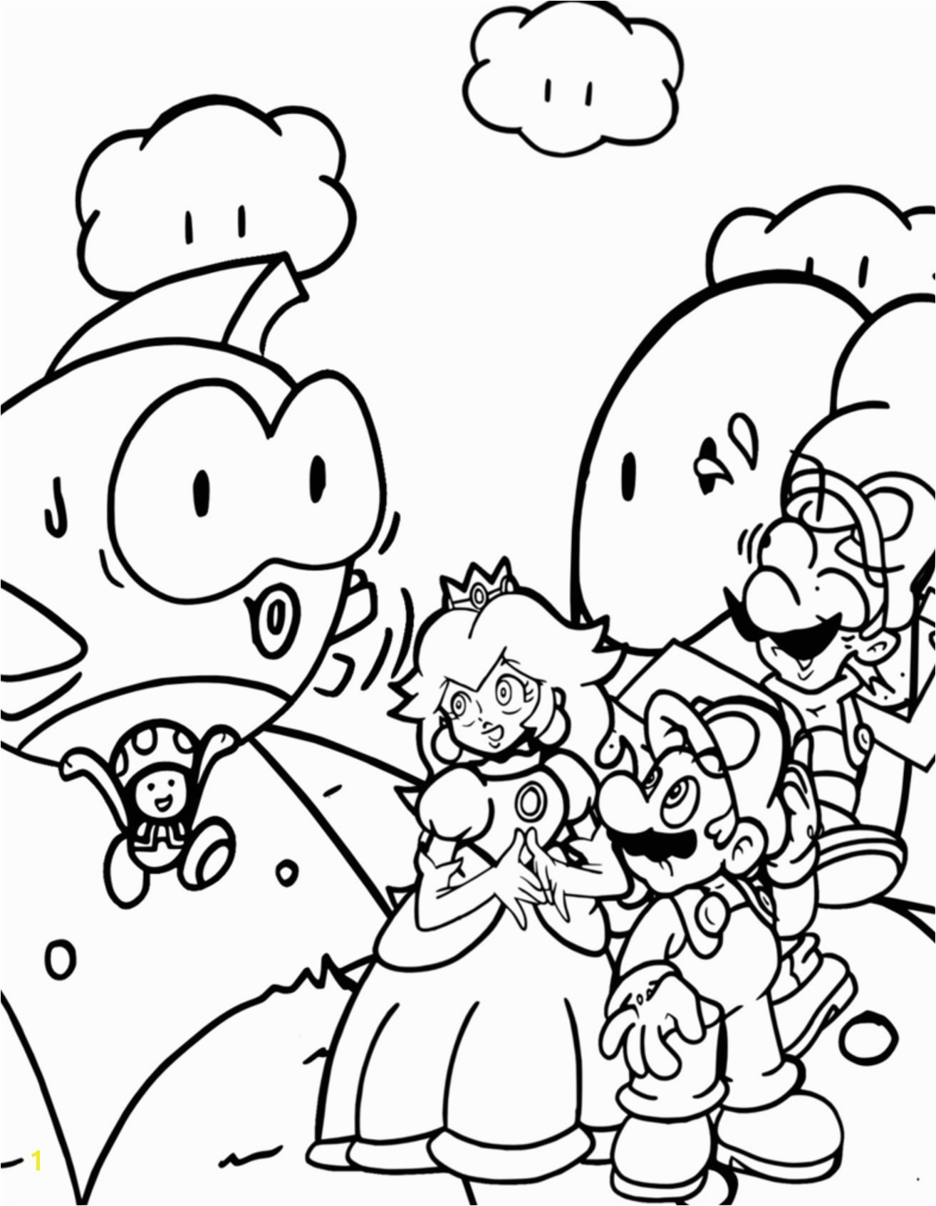 Mario Luigi and toad Coloring Pages New 20 Awesome Super Mario Bros Coloring Pages 16