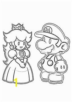 print coloring image Super Mario Coloring PagesMario