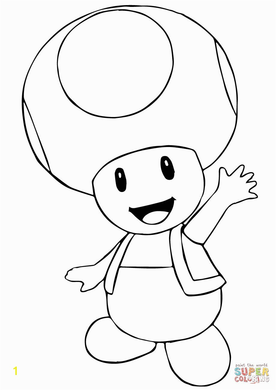 Toad Mario Coloring Pages Mario Coloring Pages To Print Inspirational Toad Coloring Pages From