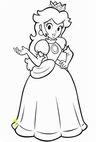Mario Bros Princess Peach coloring page