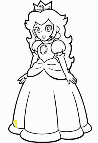 Mario Princess Peach Coloring Pages to Print Mario Princess Peach Coloring Page