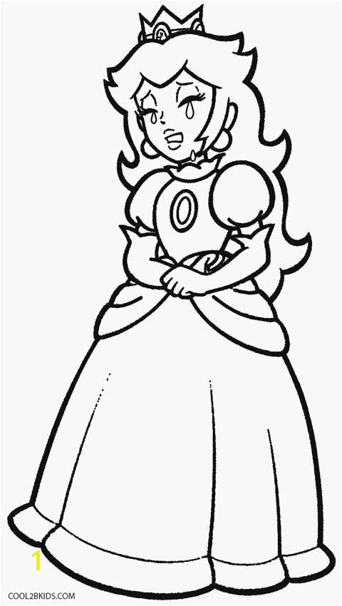 Princess Peach Coloring Pages To Print Free Mario