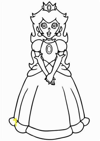 Super Mario Princess Peach coloring page