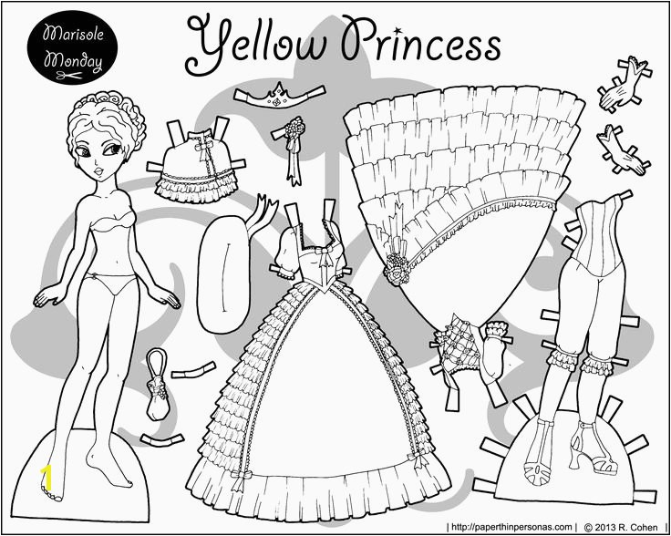 Marisole Monday Paper Doll Coloring Pages Dolls Coloring Pages Awesome 1108 Best Paper Dolls Marisole Monday