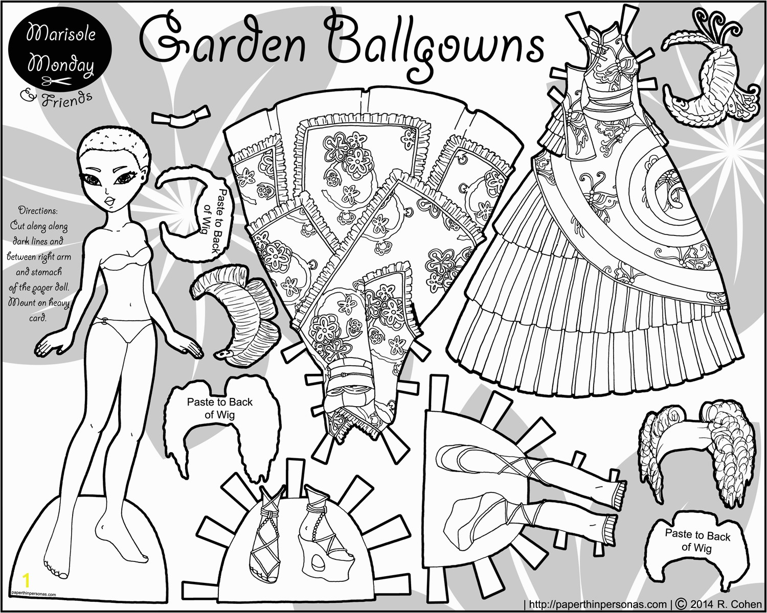 Marisole Monday Paper Doll Coloring Pages Garden Ballgowns A Paper Doll & Wa and Qi Lolita Dresses