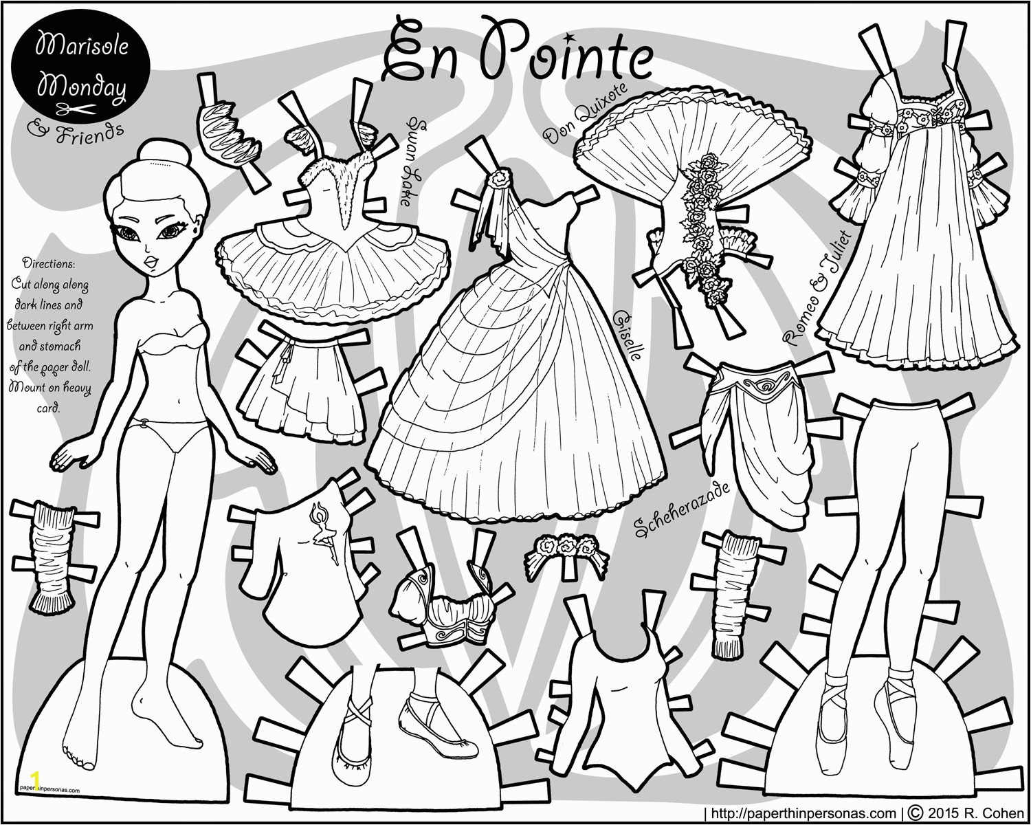 Marisole Monday Paper Doll Coloring Pages Index Of Images Printable