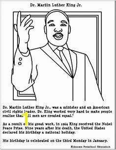 Coloring Pages For Martin Luther King Jr FunyColoring