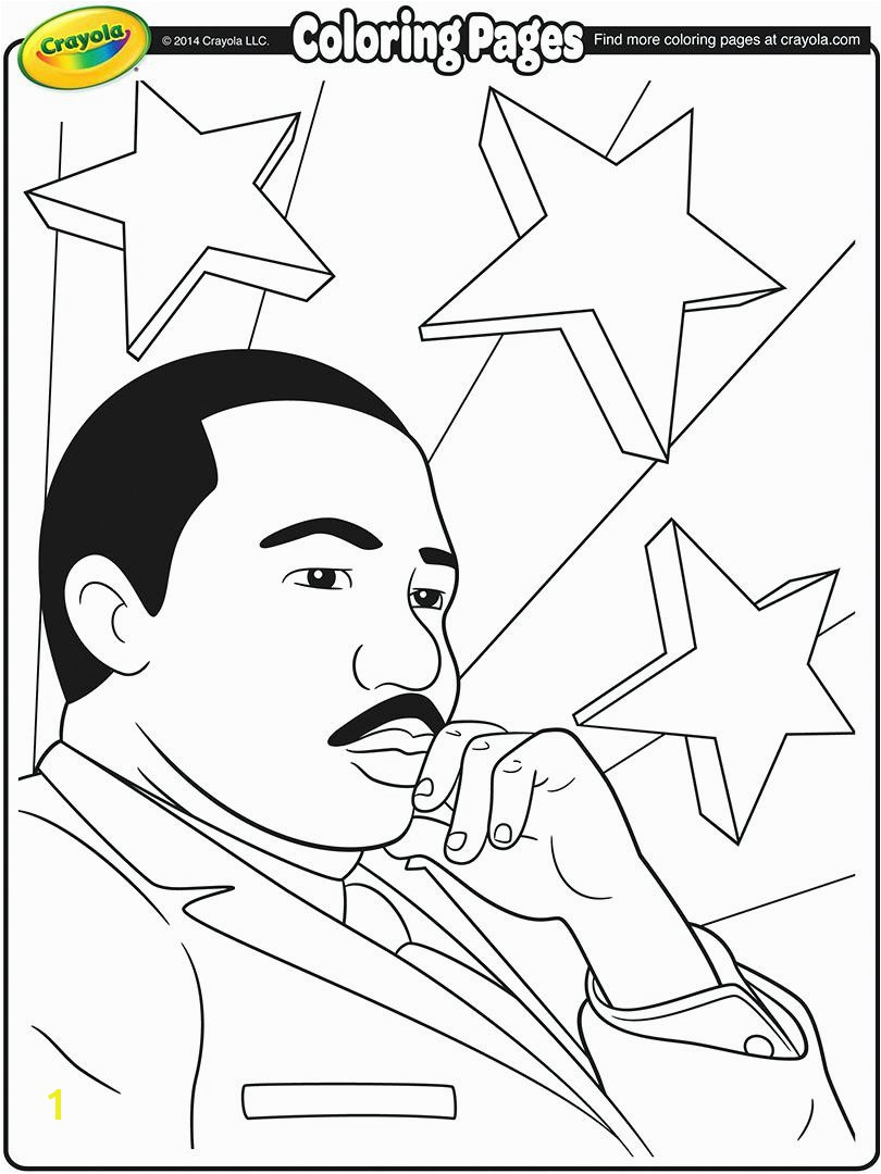 Martin Luther King Clipart Coloring Pages Famous Jr Kids Printable