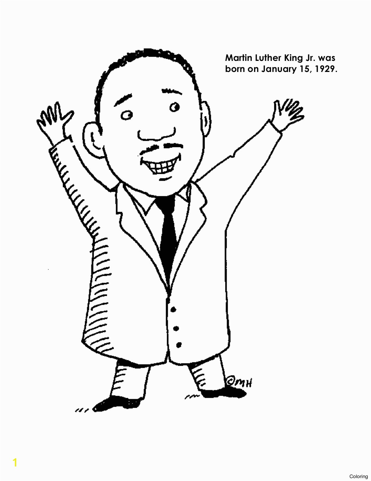 Awesome martin luther king jr coloring sheet Collection 3i 1275x1651 Mlk Today Martin Luther King