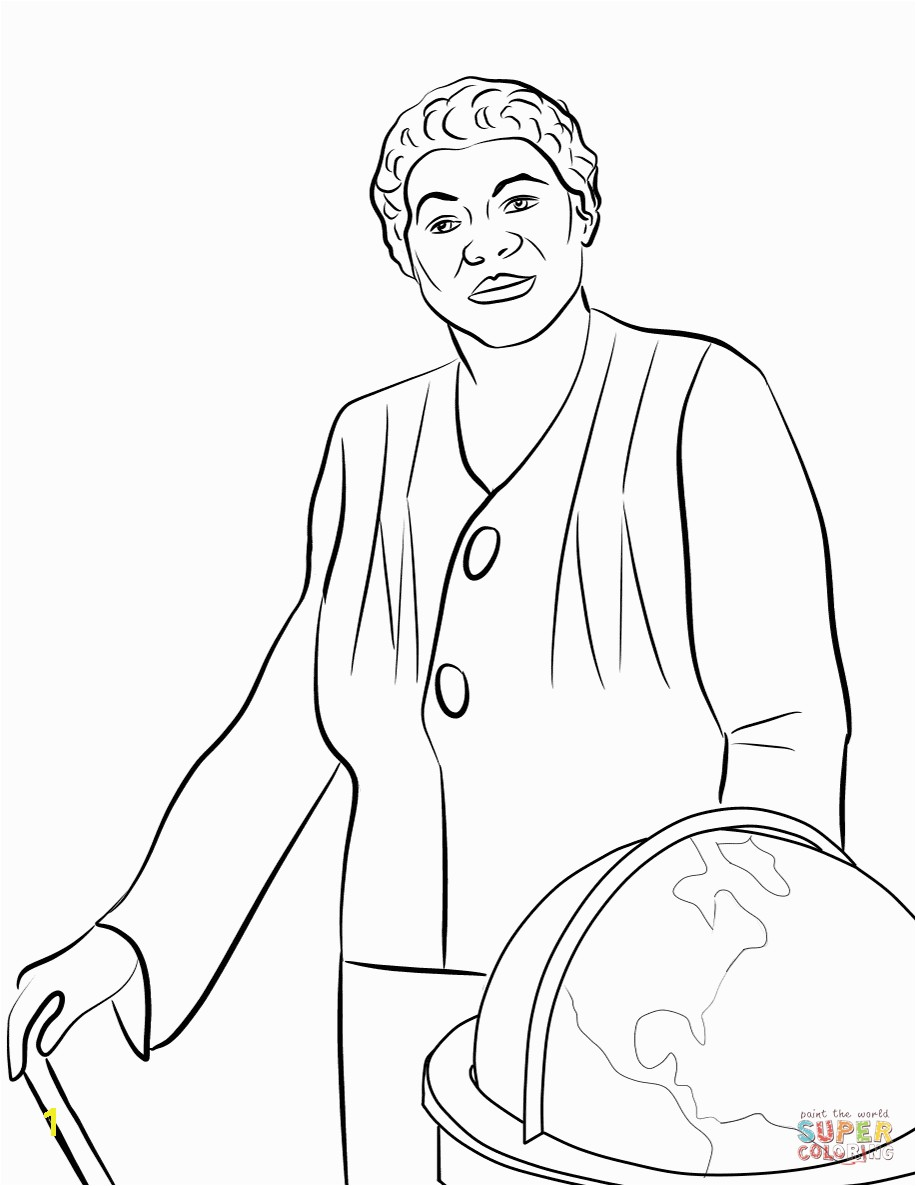 Beautiful Mary Mcleod Bethune Free Coloring Pages McLeod Page