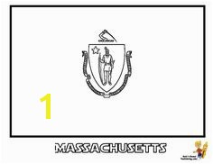 Massachusetts State Flag Coloring Page SEE the official flag photograph to match colors